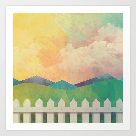 Watercolor Farm Art Print
