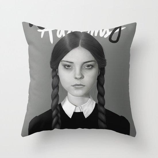 Wednesday Addams Throw Pillow