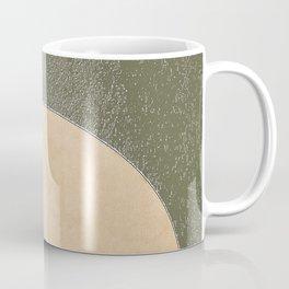 Vermont Moon Minimalism Moss Green Beige Coffee Mug