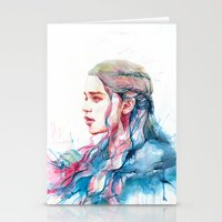 alicexz Stationery Cards featuring Dragonqueen by Alice X. Zhang