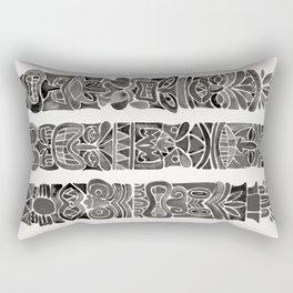 Tiki Totems – Black Rectangular Pillow