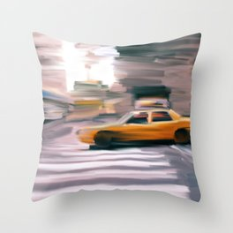 Taxi Cab. Throw Pillow