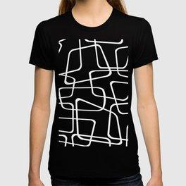 Mid Century Black and White Pattern T-shirt