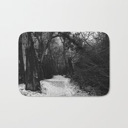 Winter in the forest Bath Mat