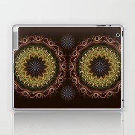 Groovy fractal mandala with tribal patterns Laptop & iPad Skin