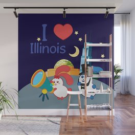 Ernest and Coraline | I love Illinois Wall Mural