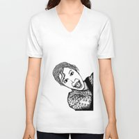 amelie V-neck T-shirts featuring Amelie by Addison Karl