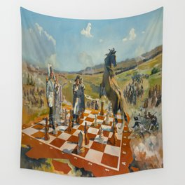 """Battle of Borodino or White Start and Win in Three Moves"" Wall Tapestry"