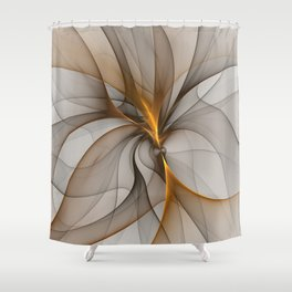Elegant Chaos, Abstract Fractal Art Shower Curtain