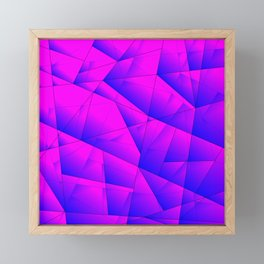 Pattern of purple and lilac triangles and irregularly shaped lines. Framed Mini Art Print