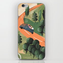 Road Trip in Tuscany Countryside iPhone Skin