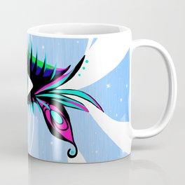 Rainbow Peacock Feather Eyelashes Eye Coffee Mug