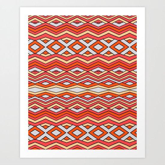 triangle X square Art Print