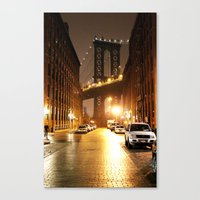 brooklyn Canvas Prints featuring Brooklyn by Rochana Dubey