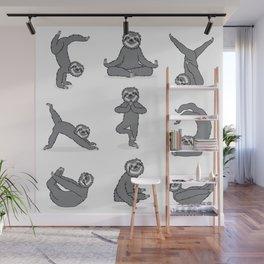 Sloth Yoga Wall Mural