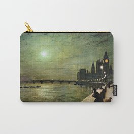 Reflections on the Thames River, London by John Atkinson Grimshaw Carry-All Pouch