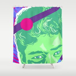 SLATER :: Memphis Design :: Saved By the Bell Series Shower Curtain
