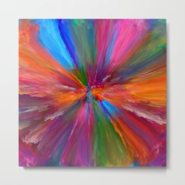 """Abstract Blooming Spring Colors"" Metal Print"