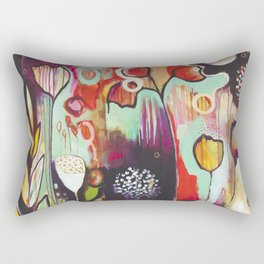 """""""Release Become"""" Original Painting by Flora Bowley Rectangular Pillow"""