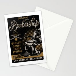 Gentlemen's Barber Shop LA Stationery Cards