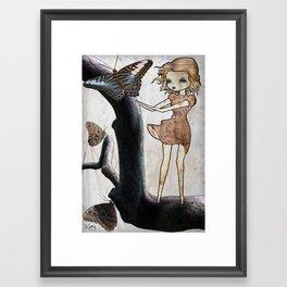 Flutter By Framed Art Print