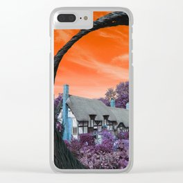 Psychedelic Shakespeare Clear iPhone Case