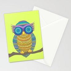 Henna Owl Stationery Cards