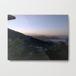 Mountain View Blue Sky Jiufen Taiwan Metal Print