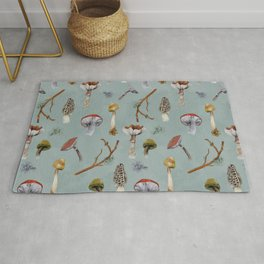 Mushroom Forest Party Rug