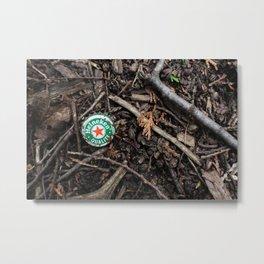 Heineken Metal Print