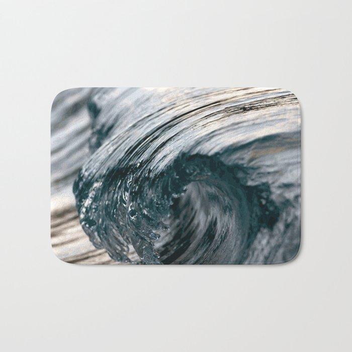 Swirl blue Bath Mat