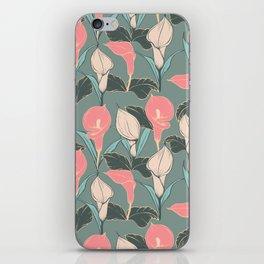 Calla lilies pattern II. iPhone Skin