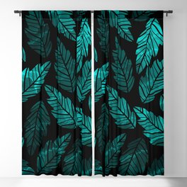 Green Leaves Blackout Curtain