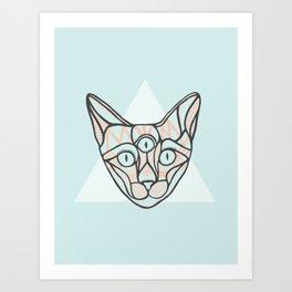 Herman - A Cat Poster Art Print