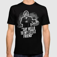 Badass 80's Action Movie Quotes - Scarface Black Mens Fitted Tee MEDIUM