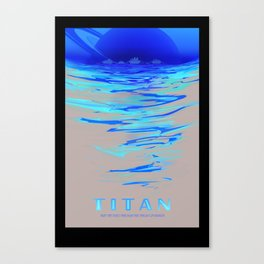Titan - NASA Space Travel (Alternative) Canvas Print