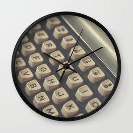 Closeup of vintage typewriter keys Wall Clock