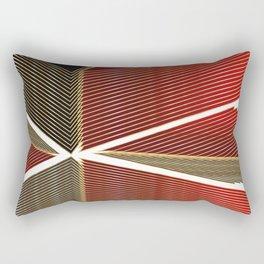 Art Deco Abstract Red #minimal #design #kirovair #buyart #christmas Rectangular Pillow