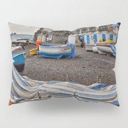 Boats in Positano Italy Pillow Sham