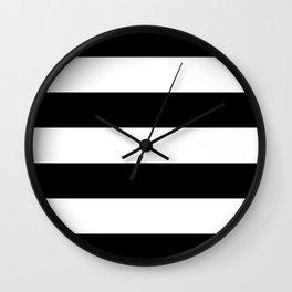 Black White Stripe Minimalist Wall Clock