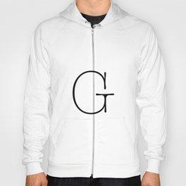 Letter G Typewriting Hoody