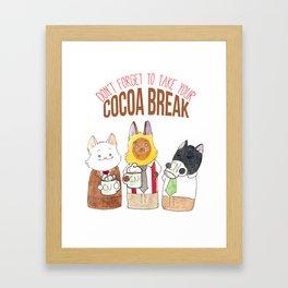 Cocoa Break Framed Art Print