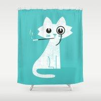 budi Shower Curtains featuring Mark - Aristo-Cat by Picomodi