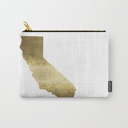 california gold foil state map  Carry-All Pouch