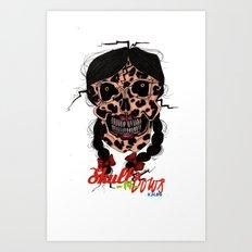Skull-N-Bows Art Print