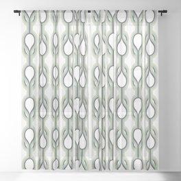 Retro-Delight - Double Drops - Mint Sheer Curtain
