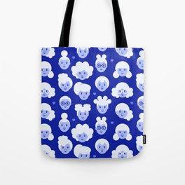 Little Girls Pattern - Blue (0002) Tote Bag