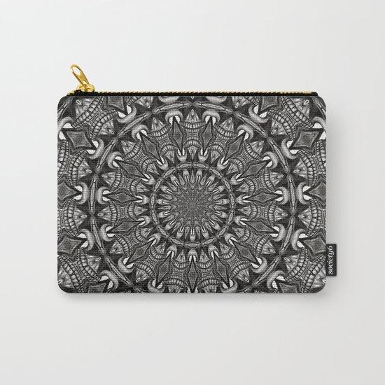 Monochrome Mandala Carry-All Pouch
