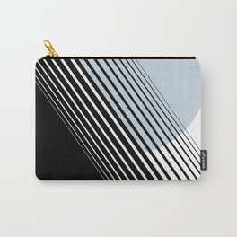 Rising Sun Minimal Japanese Abstract White Black Blue Carry-All Pouch