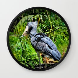 The ShoeBill Stork Wall Clock